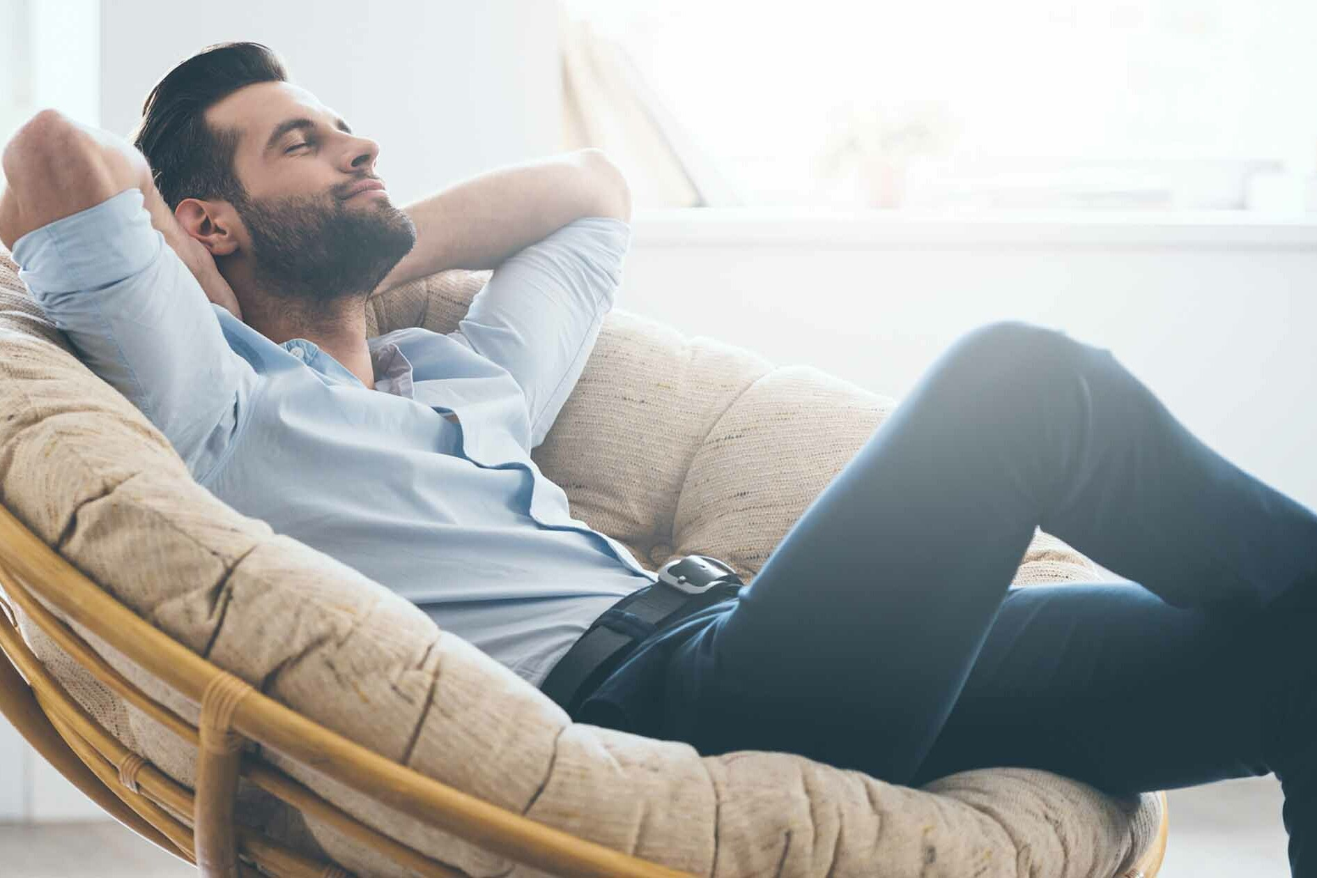 Man Relaxes in Chair - How to Handle Rejection