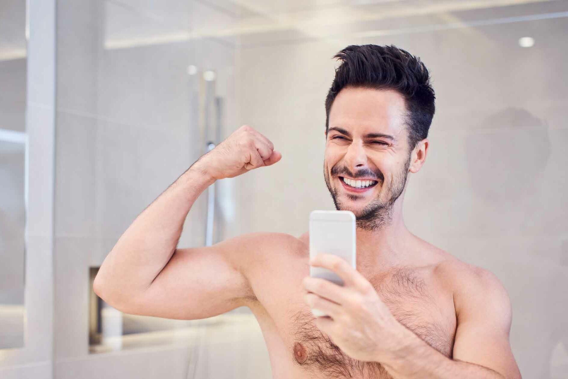 Shirtless Bathroom Selfie - Profile Pics