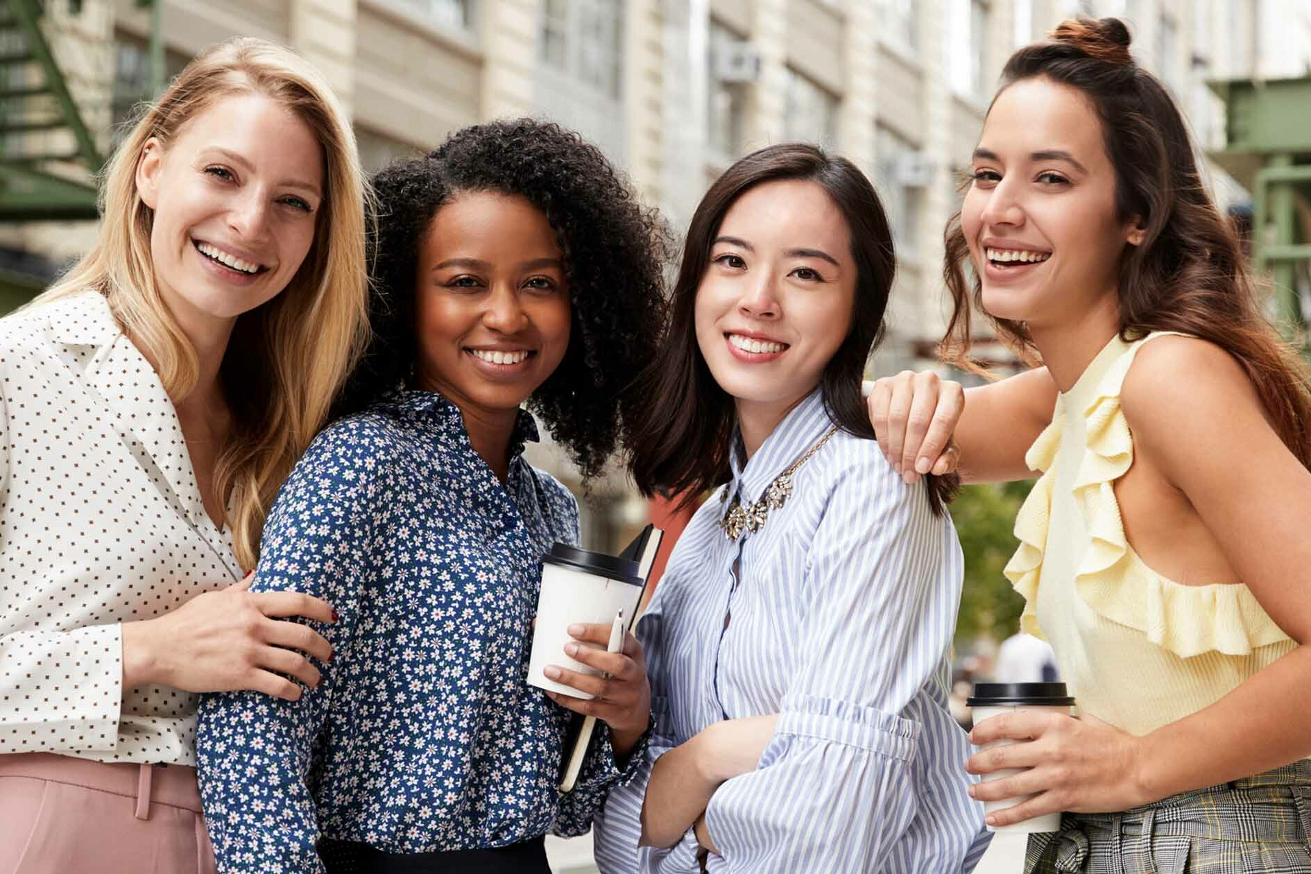 4 Ladies Pose for Camera- Womens Intuition